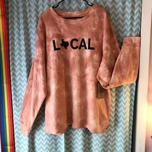 Home Free peach Texas LOCAL sweatshirt unisex